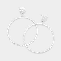Hammered Silvered Hoops *Limited Edition*