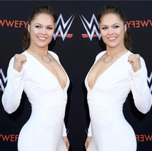 Ellipse Silver Necklace - Seen on Ronda Rousey!