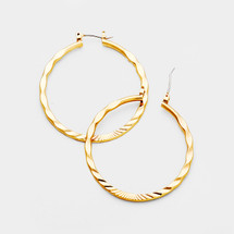 Textured Gold Hoop Earrings *Limited Edition*