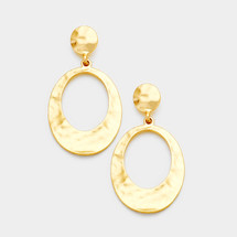 Oval Hammered Cut Out Earrings *Limited Edition*