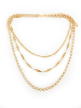 Triple Festival Vibes Necklace -Gold: Seen on What Would Kiki Wear & Celine Linarte!