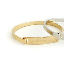 PEACE Inspirational Bangle - Gold