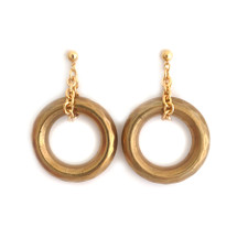 Gilded Hoop Earrings: Seen on The Code Of Style!