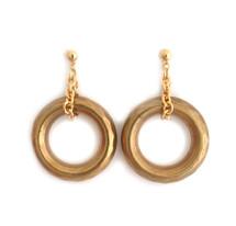 Gilded Hoop Earrings: Seen on The Code Of Style!