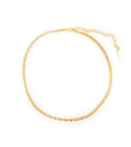 Charlie Necklace - Gold:  Seen On What Would Kiki Wear!