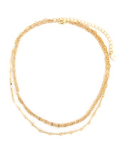 Charlie Two-Layer Necklace -Gold: Seen on Melonie Diaz!