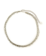 Charlie Two-Layer Necklace -Silver