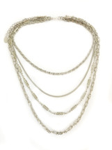 Triple Festival Vibes Necklace -Silver: Seen on Celine Linarte!