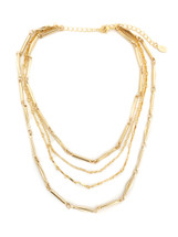 Lucia Layered Necklace -Gold