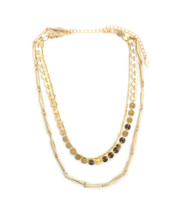 Lucinda Layered Necklace -Gold