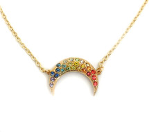 Rainbow Crescent Necklace