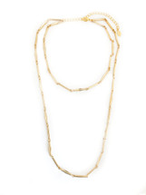 Valleta Double Chain Necklace - Gold