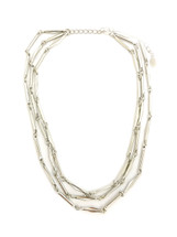 Valleta Triple Chain Necklace - Silver