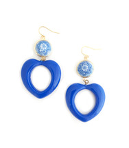 Blue Heart Earrings: Seen on The Code Of Style!