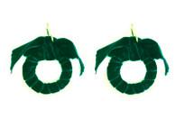Velvet Hoops - Emerald