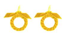 Velvet Hoops - Mustard