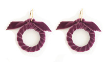 Velvet Hoops - Purple
