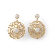 Freshwater Pearl Swirl Earrings