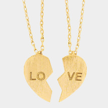 Love Friendship Necklaces Set