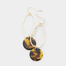 Oval Tortoise Earrings