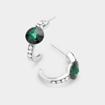 Birthstone Hoop Earrings