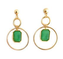 Envy Drop Hoop Earrings