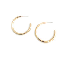 Roundy  Hoops - Gold