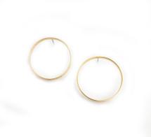 Full Circle Hoops - Gold