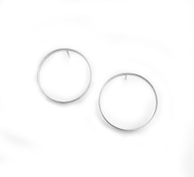 Full Circle Hoops - Silver