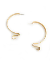 Ribbon Hoops - Gold