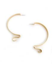Ribbon Hoops - Gold