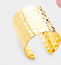 Hammered Cuff - Gold