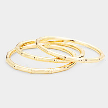 Textured Metal Bangle Set