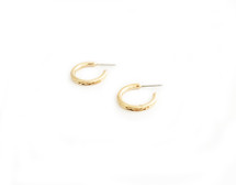 Baby Textured Hoops - Gold