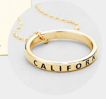 California Ring Necklace