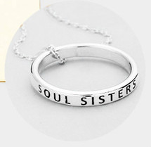 Soul Sister Ring Necklace - Silver