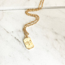 New! Double Sided Zodiac Necklace: Aries & Cancer Only!