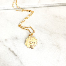 New! Zodiac Coin Necklace
