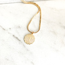 New! Zodiac Medallion Necklace
