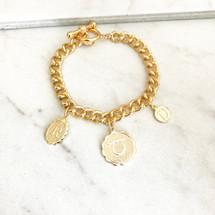 New! Double Initial Zodiac Charm Bracelet - PRE-ORDER!