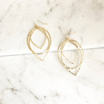 Hammered Ovals Hoops