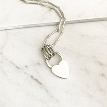 Heart Lock Medallion Necklace