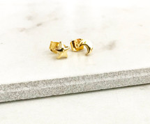 Moon & Star Studs: Gold Filled