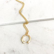 Crescent Point Necklace