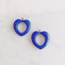 Blue Hearts Earrings