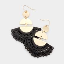 Freida Earrings - Black