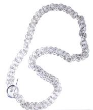 Thora Long Necklace - gunmetal finish