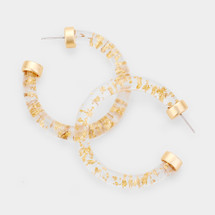 Gold Flecks Hoops