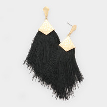 Ready To Mingle Earrings - Black