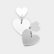 Two Of Hearts Earrings: Gold Or Silver